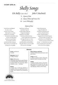 Shelly Songs: Hymn of Pan