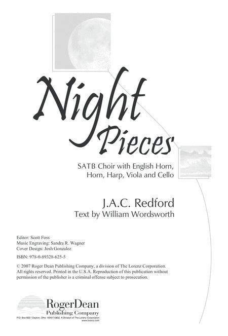 Night Pieces - SATB Choral/Full Score