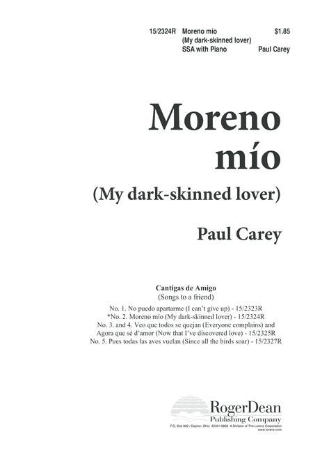 Moreno mio (My dark-skinned lover)