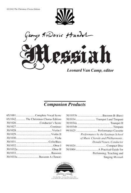Messiah: The Christmas Chorus Edition
