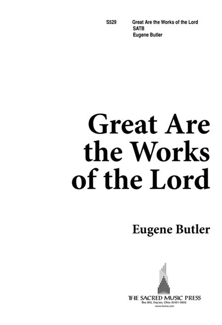 Great Are the Works of the Lord