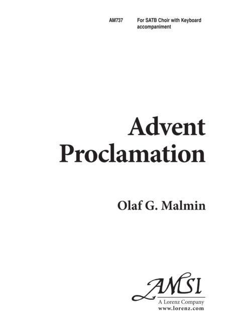 Advent Proclamation
