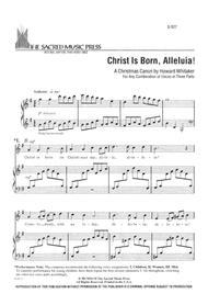 Christ Is Born, Alleluia
