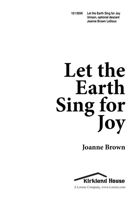 Let the Earth Sing for Joy