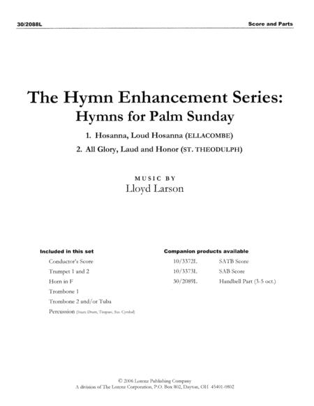 Hymns for Palm Sunday - Brass and Percussion Score and Parts