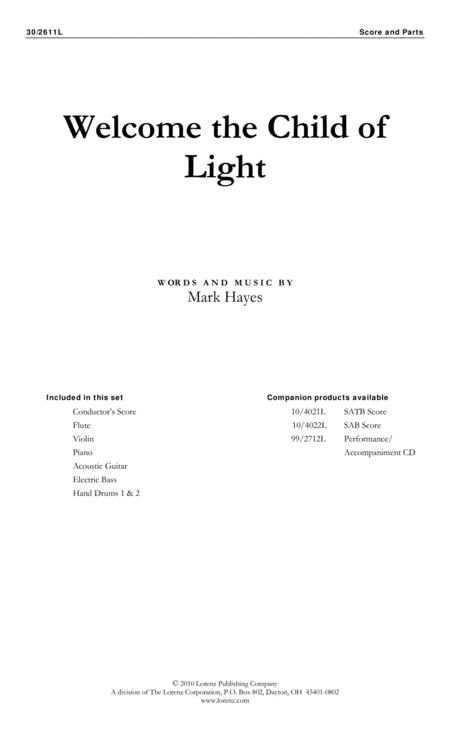 Welcome the Child of Light - Instrumental Ensemble Score and Parts