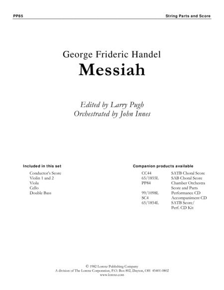 Handel's Messiah: Christmas Choruses and Solos - String Orchestra Score/Parts