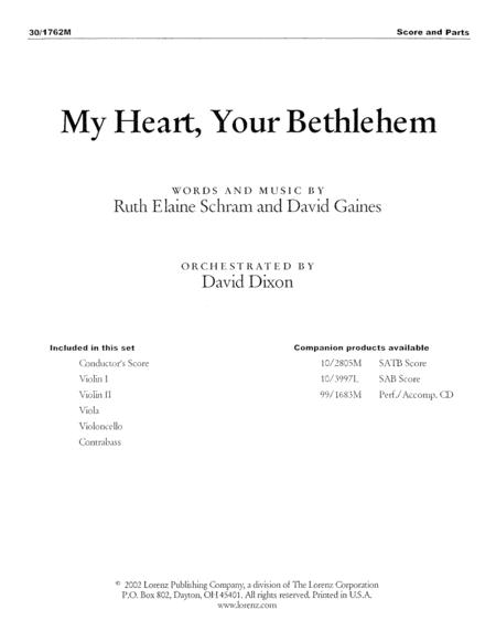 My Heart, Your Bethlehem - String Orchestra Score and Parts