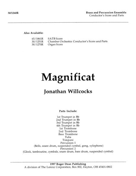 Magnificat - Brass and Percussion/Score and Parts