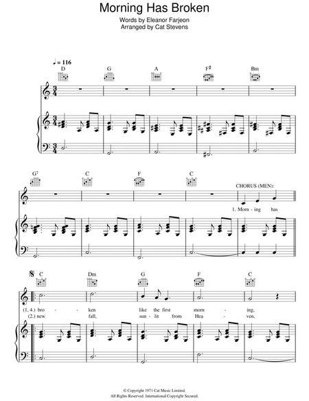 Download Morning Has Broken Sheet Music By Cat Stevens - Sheet Music ...
