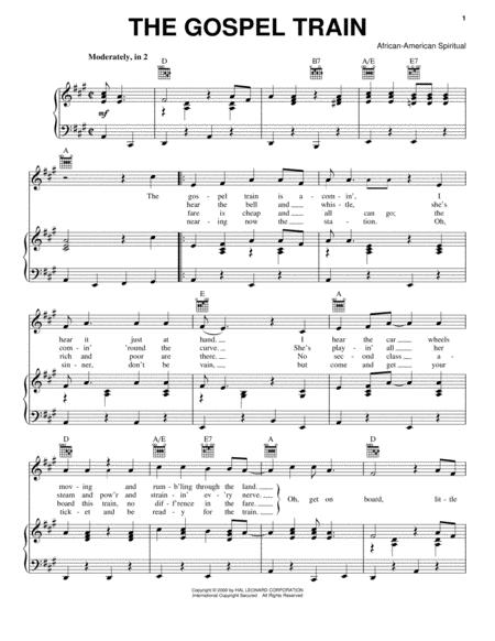 Download The Gospel Train Sheet Music By African-American Spiritual ...