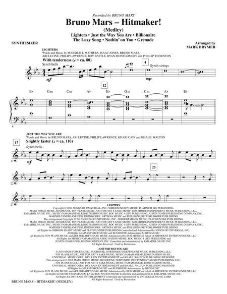 Bruno Mars: Hitmaker! (Medley) - Synthesizer