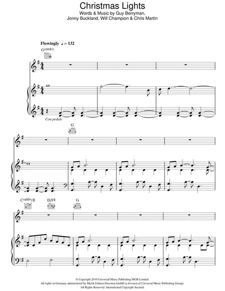 Christmas Lights By Coldplay Will Champion Digital Sheet Music For Piano Vocal Guitar Piano Accompaniment Download Print Hx 223090 Sheet Music Plus