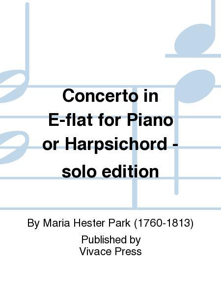 Concerto in E-flat for Piano or Harpsichord - solo edition