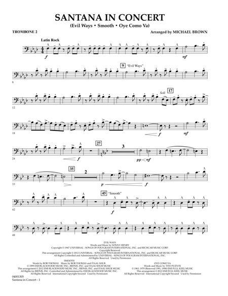 Santana In Concert - Trombone 2