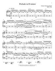 Prelude In D Minor, BMV 926