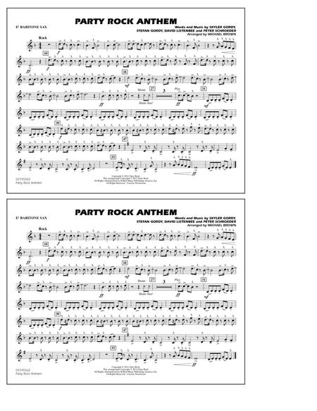 Party Rock Anthem - Eb Baritone Sax