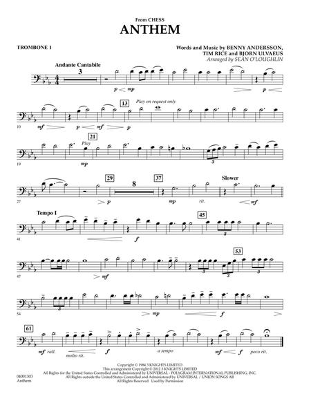 Anthem (from Chess) - Trombone 1