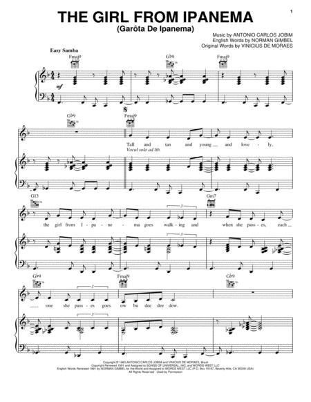 Download The Girl From Ipanema Garota De Ipanema Sheet Music By