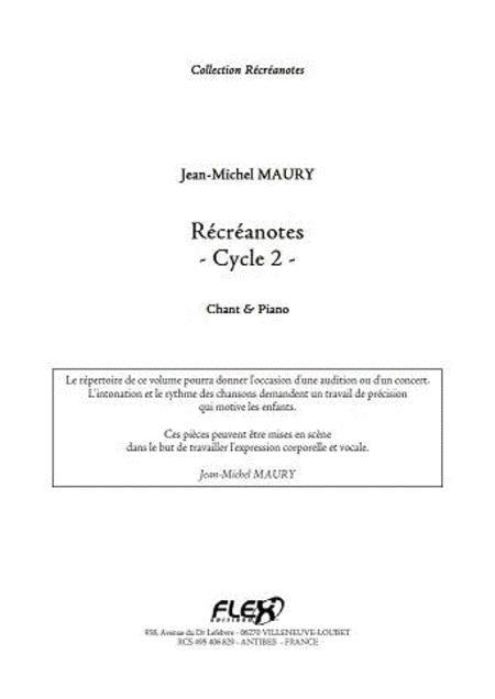 Recreanotes - Cycle 2 - Children's Choir & Piano