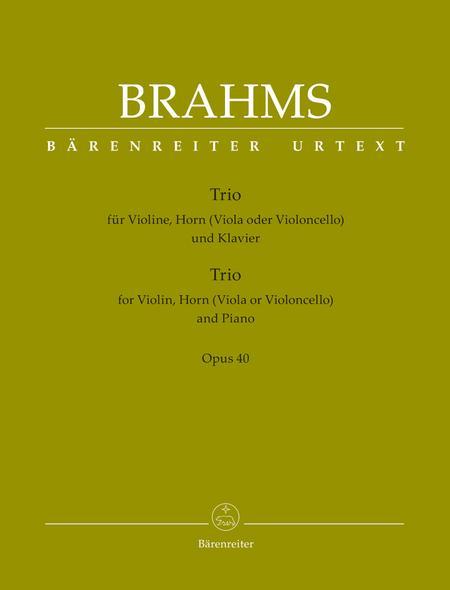 Trio for Violin, Horn (Viola or Violoncello) and Piano, Op. 40