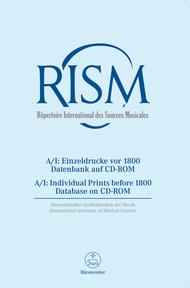 International Inventory of Musical Sources (RISM), series A/I. Individual Prints before 1800, Database on CD-ROM