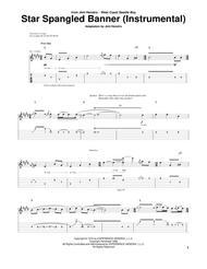 The Star Spangled Banner Instrumental By Jimi Hendrix Jimi Hendrix Digital Sheet Music For Guitar Tab Download Print Hx 229477 From Hal Leonard Digital Sheet Music At Sheet Music Plus