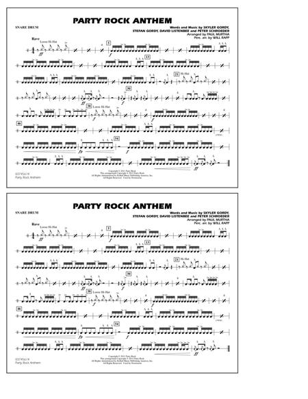 download party rock anthem snare drum sheet music by lmfao sheet music plus. Black Bedroom Furniture Sets. Home Design Ideas