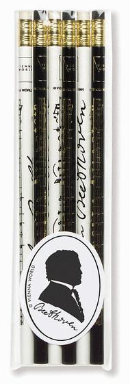 Music pencil set Beethoven (set of 6)