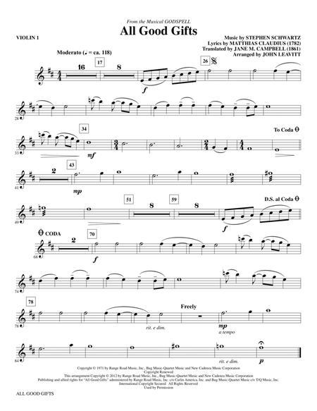 All Good Gifts - Violin 1