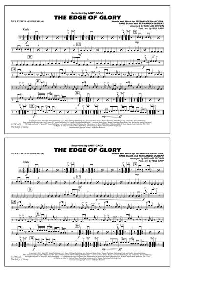 The Edge Of Glory - Multiple Bass Drums
