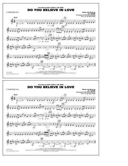 Do You Believe In Love - Eb Baritone Sax