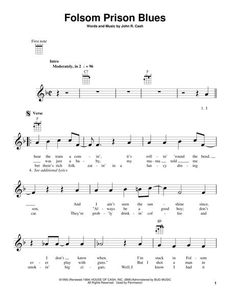 Download Folsom Prison Blues Sheet Music By Johnny Cash - Sheet ...