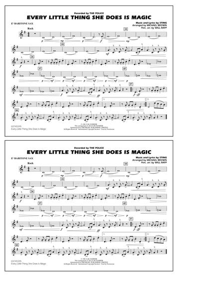 Every Little Thing She Does Is Magic - Eb Baritone Sax