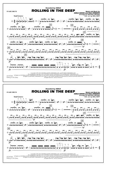 download rolling in the deep snare drum sheet music by michael brown sheet music plus. Black Bedroom Furniture Sets. Home Design Ideas
