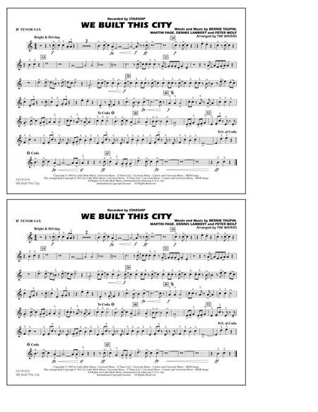 We Built This City - Bb Tenor Sax