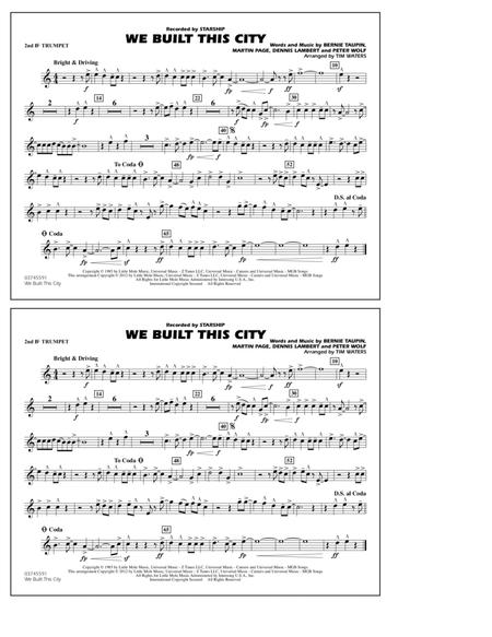 We Built This City - 2nd Bb Trumpet