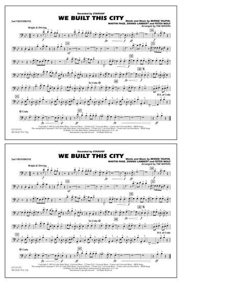 We Built This City - 2nd Trombone