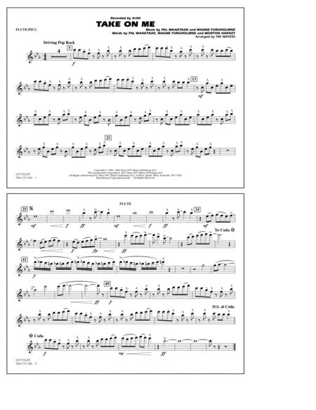 Take On Me - Flute/Piccolo
