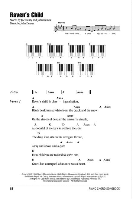 Download Ravens Child Sheet Music By Joe Henry Sheet Music Plus