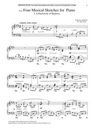 Four Musical Sketches For Piano, A Patchwork Of Shadows