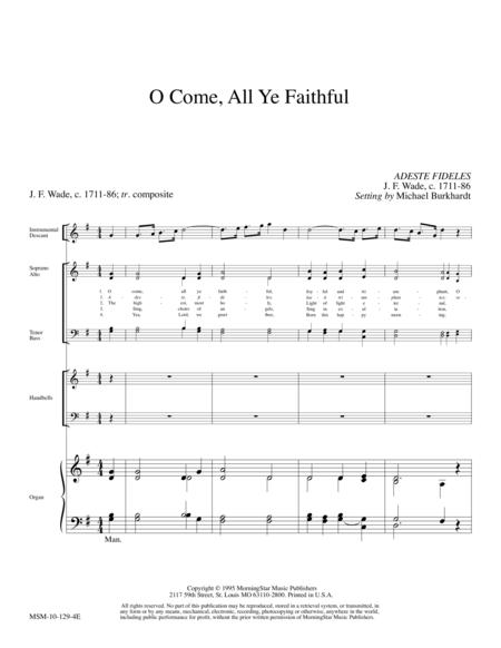 Download O Come, All Ye Faithful Sheet Music By Michael Burkhardt ...