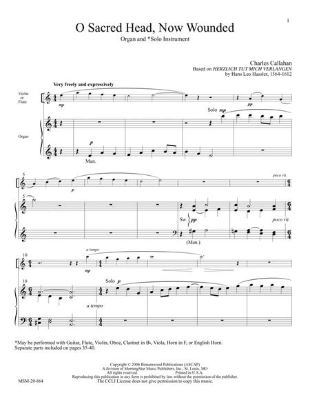 Download O Sacred Head Now Wounded Sheet Music By Charles E