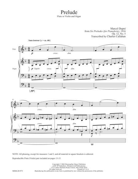 Prelude for Flute or Violin and Organ