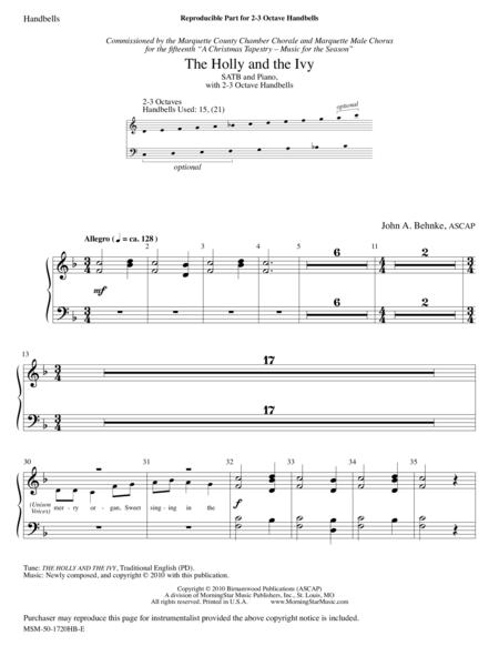 The Holly and the Ivy (Handbell Parts)
