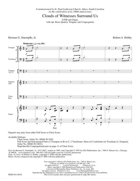 Clouds of Witnesses Surround Us (Full Score and Instrumental Parts)