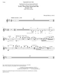 Lord, Thou Hast Searched Me Psalm 139 (Violin Part)