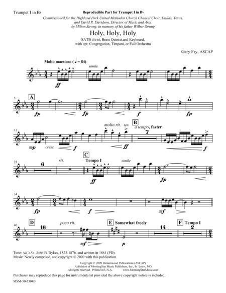 Holy, Holy, Holy (Instrumental Parts)