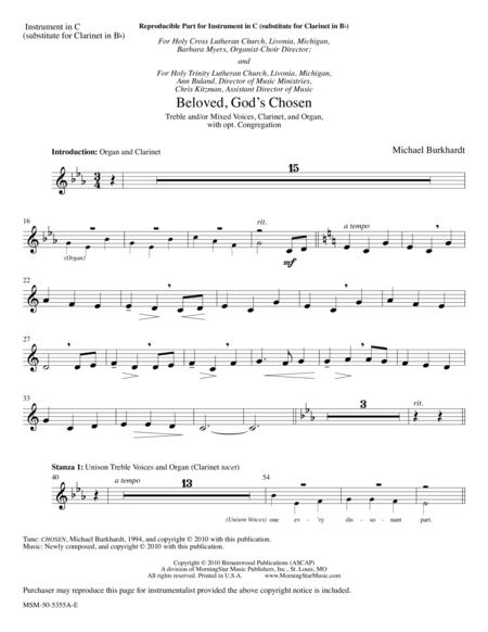 Beloved, God's Chosen (Instrumental Parts)