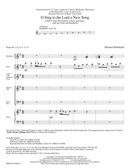 O Sing to the Lord a New Song (Full Score)